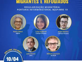 2ª Roda de Conversa com migrantes e refugiados sobre a Portaria Interministerial n° 19/2021
