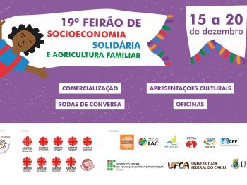 19º FEIRÃO DE SOCIOECONOMIA SOLIDÁRIA E AGRICULTURA FAMILIAR