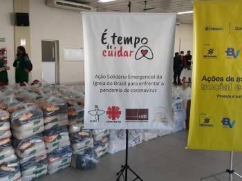 Cáritas RS distribui cestas básicas a comunidades em vulnerabilidade durante pandemia