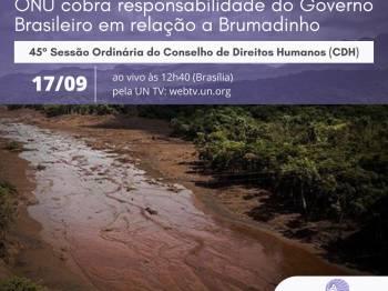 ONU cobra responsabilidade do Governo Brasileiro em relação à tragédia-crime de Brumadinho